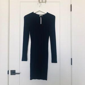 [ASOS] Body cone NWT  Navy long sleeve dress
